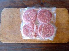 Borjú hamburger pogácsa - 4 db/csomag, ami 0,6 kg - 4.500 Ft/kg - GYORSFAGYASZTOTT