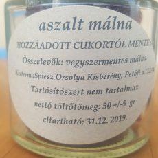 Aszalt Málna - CUKORMENTES - 50g - üvegben
