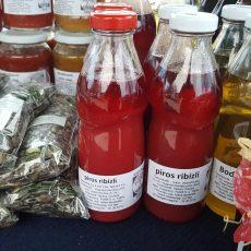 Pirosribizli szörp - 500 ml   CUKORMENTES